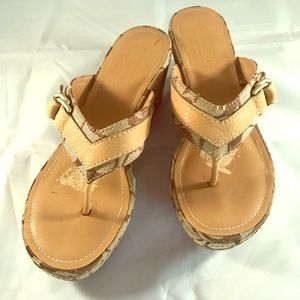 Coach heel Sandals Size 5.5